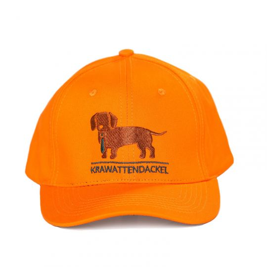 Krawattendackel Cap Schirmkappe orange