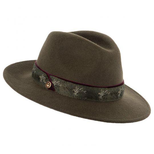 Damen Hut / Jagdhut mit Zierband