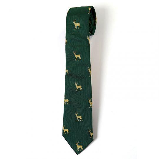 Krawattendackel Hirsch-Krawatte grün