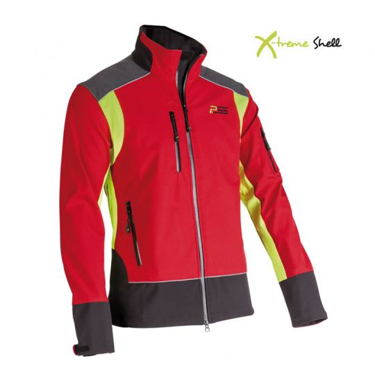 PSS X-treme Shell Jacke rot gelb